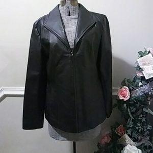 NWOT East 5th Black Leather Jacket